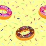 Donuts Bezszwowy wzór Obrazy Stock