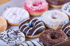Donuts in box. Stock Images