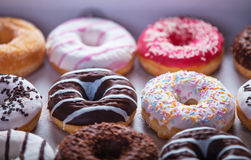 Donuts in box. Royalty Free Stock Photography