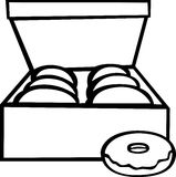 Donuts box vector illustration Royalty Free Stock Photos
