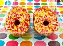 donuts boxas in Royaltyfri Fotografi