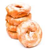 Donuts brogujący na białym tle Obrazy Royalty Free