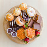 Donuts and cakes stock photos