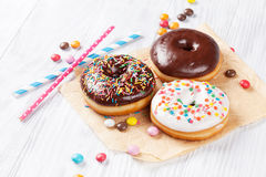 Donuts and candies Royalty Free Stock Image