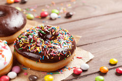 Donuts and candies Royalty Free Stock Images