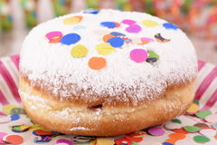 Donuts at carnival with confetti Stock Photos