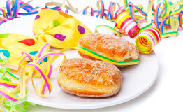Donuts, carnival decoration Stock Photos