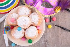 Donuts and carnival decoration Stock Photography