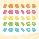 Many sides of donuts or cereals royalty free illustration