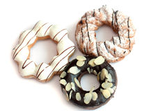 Donuts, chocolade donuts Stock Foto's