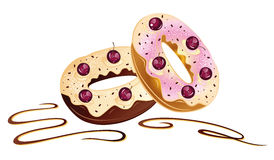 Donuts, chocolate Royalty Free Stock Photo