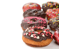 Donuts with chocolate frosting Royalty Free Stock Photography