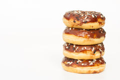 Donuts With Chocolate Icing Royalty Free Stock Photos