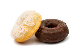 Donuts with chocolate isolated Royalty Free Stock Image