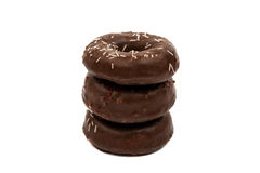 Donuts with chocolate isolated Royalty Free Stock Photo