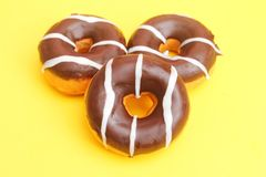 Donuts with chocolate Royalty Free Stock Images