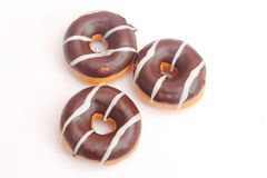 Donuts with chocolate Stock Photos
