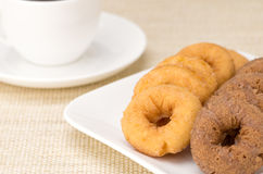 Donuts with coffee Stock Photo
