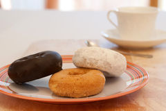 Donuts and Coffee. In The Morning Stock Photography