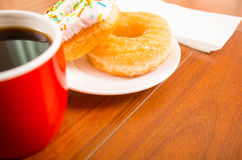 Donuts and coffee Stock Image