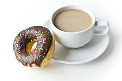 Donuts and coffee cup Royalty Free Stock Photography