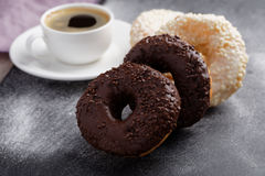 Donuts and coffee Stock Photography
