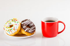 Donuts and coffee Royalty Free Stock Photo