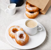 Donuts and coffee Royalty Free Stock Photography