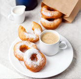 Donuts and coffee Royalty Free Stock Image