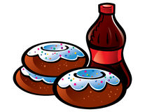 Donuts and Cola Royalty Free Stock Images