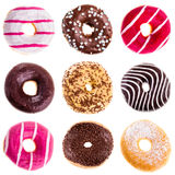 Donuts collection Royalty Free Stock Photos