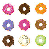 Donuts collection Royalty Free Stock Images