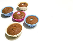 Donuts. In a colorful ramekins Stock Photography