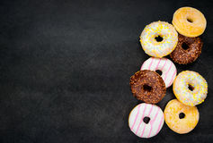 Donuts on Copy Space Area Stock Image