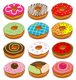 Donuts cute Collection Set Stock Photography