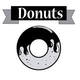 Donuts design Stock Images