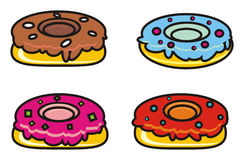 Donuts with different fillings Royalty Free Stock Photo