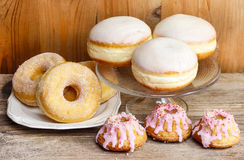 Donuts and easter cakes Royalty Free Stock Photo