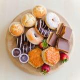 Donuts en cakes Stock Foto's