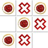 donuts en corss patroon royalty-vrije stock foto