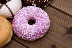 Donuts fresh on background Stock Image