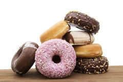 Donuts fresh on background royalty free stock images