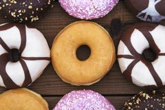 Donuts fresh on background Royalty Free Stock Photos