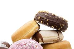 Donuts fresh on background Stock Photos