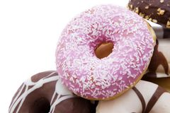Donuts fresh on background Stock Photography