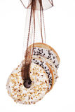 Donuts hanging isolated. Royalty Free Stock Photography