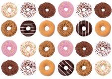 Donuts is het prachtigste snoepje u voor een tweede ontbijt kunt veronderstellen royalty-vrije stock foto