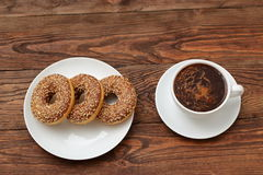 Donuts. With a hole in it has a sweet treat for lunch or afternoon tea Royalty Free Stock Photos