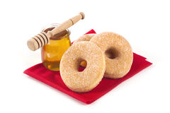 Donuts and honey Stock Photos