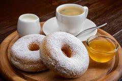 Donuts i kawa Fotografia Royalty Free